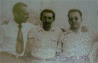 De izquierda a derecha: Ramiro de Armas, Clotildo Rodríguez Mesa y Quirino Hernández
