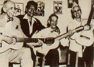 Alberto Villalín, Manuel Corona, Sindo Garay y Rosendo Ruiz, considerados los Cuatro Grandes de la Trova Tradicional Cubana